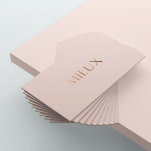 Business Card Linen Paper With Gold Foiling