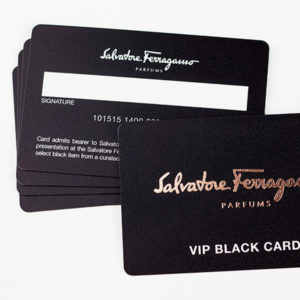 Business Card Pet Matte with Gold Foiling
