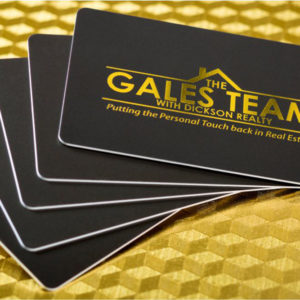 Business Card Pet Glossy with Gold Foiling